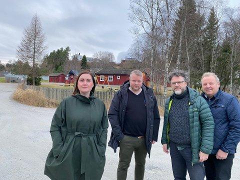 NOK BARNEHAGER: Namsos har ikke behov for at det bygges en ny barnehage til 35 millioner kroner, mener fra venstre: Marika Aakervik Pedersen (Frp), Amund Lein (H), Geir Olav Knappe (V) og Steinar Lyngstad (Sp).