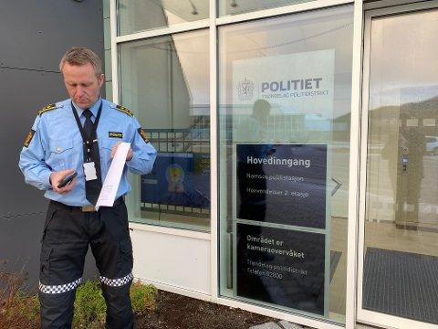 Politistasjonssjef: Svenn Ingar Viken forteller at det så langt i år er registrert 14 straffesaker i Namdalen som omhandler temaet.
