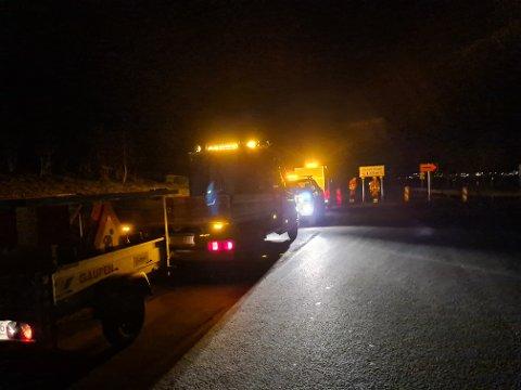 Alvorlig skadet: En mann i 60-åra ble alvorlig skadet i ei utforkjøring ved Horvereidvatnet ved Kolvereid torsdag kveld.