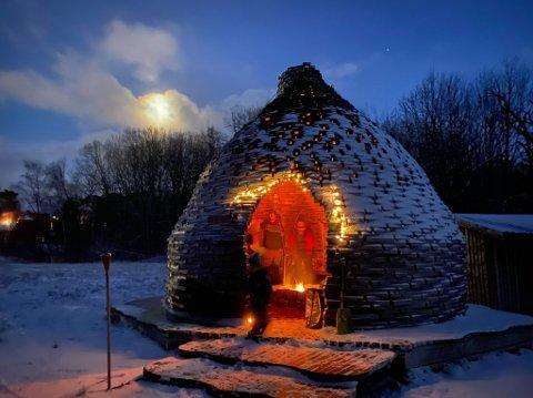 God stemning i bolet: Det tradisjonsrike familieselskapet til familien Meldal ble arrangert i Vepsebolet i Namsos.