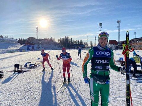 ERFAREN: Thomas Hjalmar Westgård har opparbeidet seg rik erfaring i mesterskap etter deltakelse i to VM, ett OL, to x Tour de Ski og her; Skitour2020 i Østersund/Trondheim. Denne  erfaringa mener han kan bidra til bedre prestasjoner i skisporet for hans del.