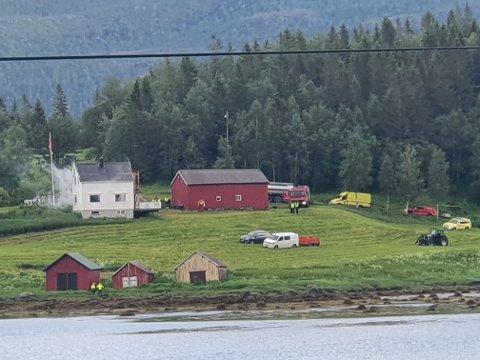 BRANN: Brannvesenet har fått kontroll på boligbrannen på Kolvereid.