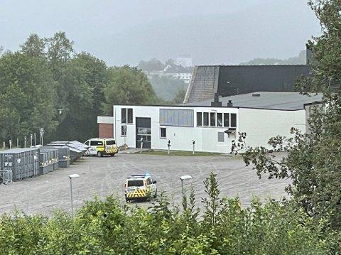 ALARM: Politiet rykket ut til Olav Duun videregående skole etter at alarmen gikk.