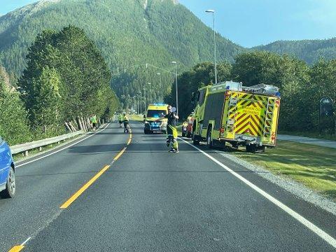 UTFORKJØRING: En ATV-fører kjørte av vegen og havnet i vannet ved Namsenbrua.