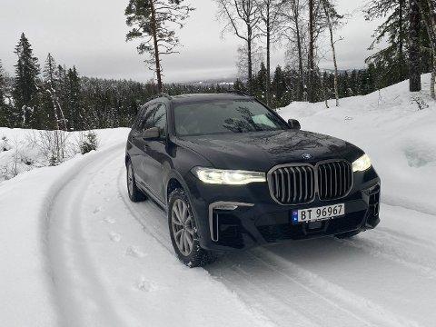 X7 er kongen på SUV-haugen hos BMW. Og en seriøst diger bil!