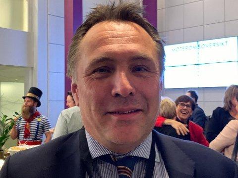 STØTTER GISKE: Tore Onshuus Sandvik (50) har vært fylkesordfører i Trøndelag siden 2018, og er en av Giske støttespillere