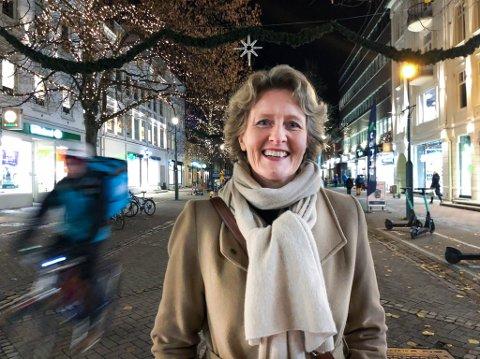 Kirsten Schultz i Midtbyen Management er klar for julegatetenning kommende helg.