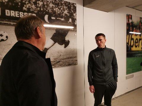 RBK-trener Åge Hareide havnet i disputt med dommer Kai Erik Steen etter kampen.