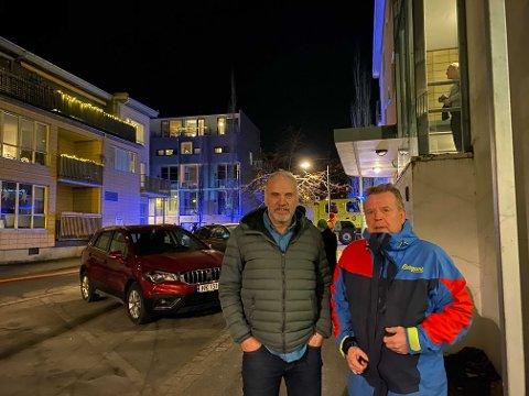 Trond Rødsand og Morten Olsen fikk med seg dramatikken.