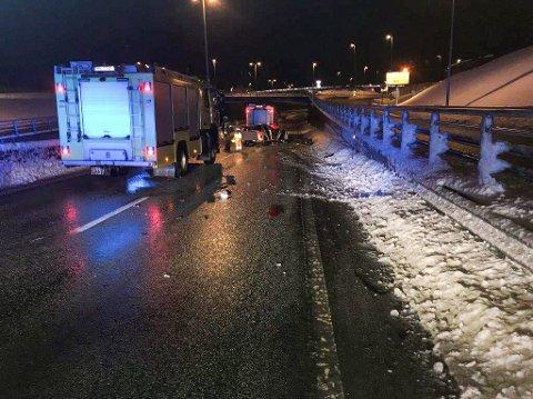 Rett etter forbikjøringen av politiet på Omkjøringsveien på E6, hadde bilisten kollidert.