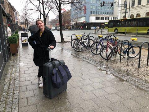 Martine Sem Glømmi er koronaflyktning nå når skoler og universiteter stenger ned.