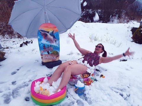 En om dagen: I uka før påskehelga tok Tanja Bjorøy sine Facebook-venner på en liten reise i snøen.