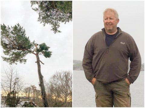 Per Einar Svela har klaget til Trondheim kommune etter at familien fikk et gebyr for trefellingen på Øya.
