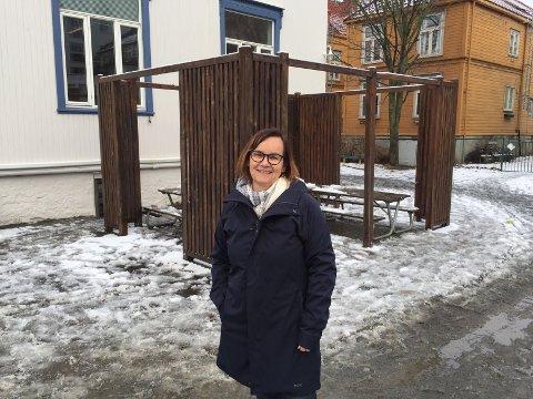 Gøril Linge Five, styrer i Lademoen barnehage, forteller at de er knallharde på smittevern