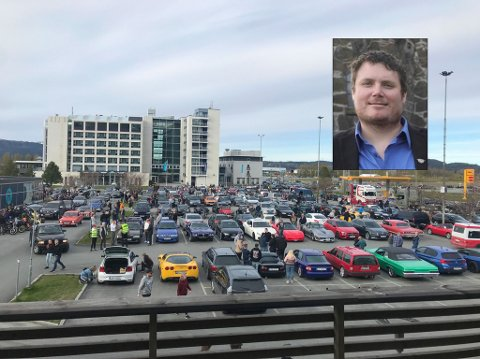 REAGERER: – Det er provoserende at det finnes enkelte som ødelegger for omdømmet vårt, sier Henning Kjensli i Amcar etter torsdagens biltreff på Hell. FOTO: PRIVAT/POLITIET