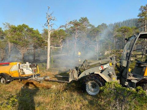 REDDET DAGEN: Denne høytrykksspyleren med en tank på 1.000 liter gjorde at brannmannskapet raskt fikk kontroll over brannen.