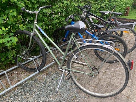 STO IGJEN: Denne sykkelen sto igjen etter tyveriet.