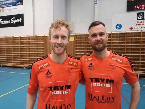 Erlend Tjøtta Vie og Morten Ravlo spiller begge på Utleira futsal.