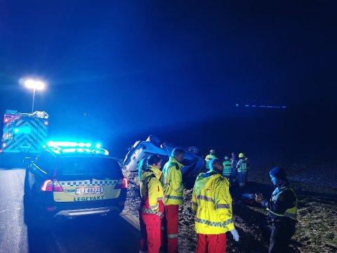 Trafikkulykken skjedde på Leinstrand i desember ifjor.