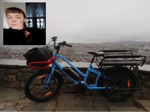 Mari Raunsgard og familien fortviler etter at sykkelen deres ble stjålet.