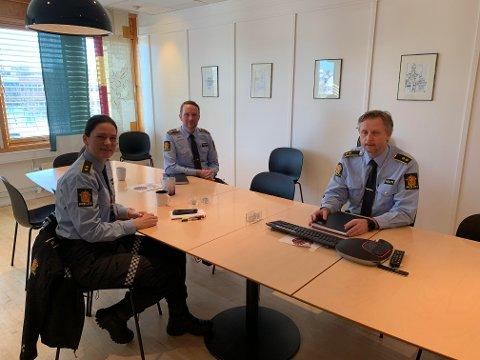 Politioverbetjent Beate Støkkan og seksjonslederne Ole Petter Ustad og Per Christian Stokke ved Heimdal politistasjon, ser alvorlig på trenden som spres seg blant ungdommen.