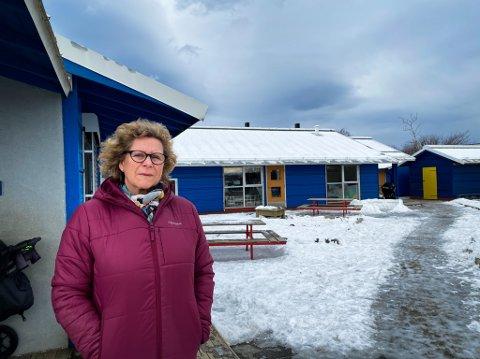 Daglig leder Helen Olstad Næss ved Tårnet barnehage frykter at søkermassen forsvinner om barnehagen må flytte til Sorgenfri