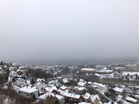 Denne påsken er snøgrensen lav, og man skal ikke langt opp i høyden før nedbøren kommer i form av snø.