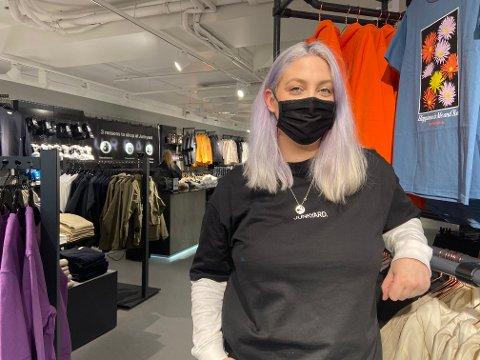 Daglig leder, Kaja Ødegård, melder om en rolig åpning av den nye Junkyard butikken på Trondheim Torg.