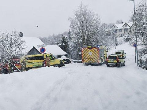Nødetater rykket ut etter melding om en trafikkulykke på Byåsen.
