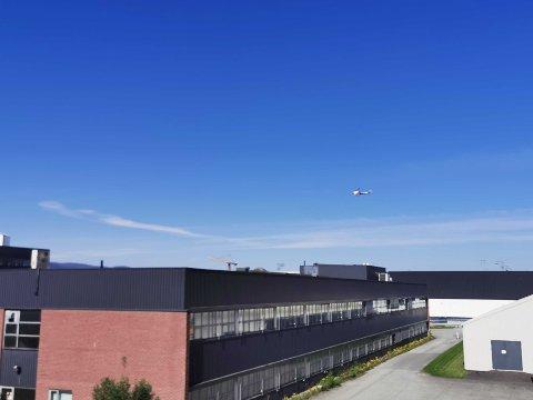 Helikoptertrafikk på Lade.