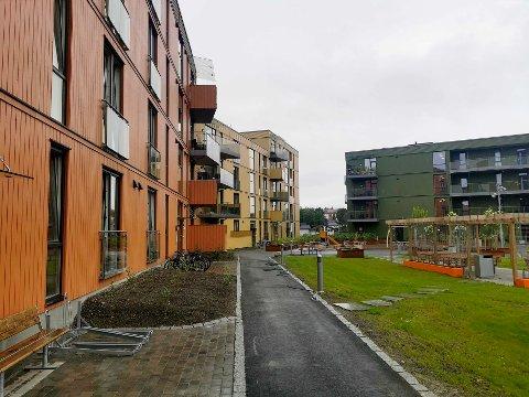 Sluttoppgjøret etter byggingen av disse blokkene, Heimdal Stasjonsby, skal på bordet til Trøndelag tingrett de neste to ukene.