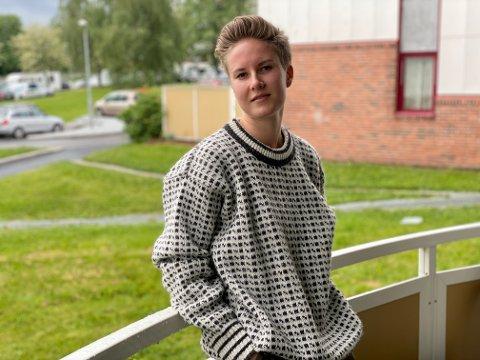 BEDRE FREMTID: Eirin Flaten (23) er nestleder i Trondheim Pride. Hun har troen på en mindre fordomsfull fremtid.