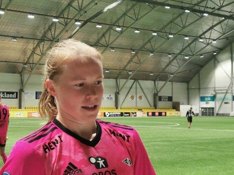 Julie Blakstad banket inn to scoringer og mente at førstemålet er hennes fineste på øverste nivå.