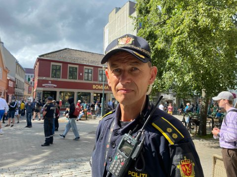Innsatsleder Karl Småland forteller om en tendens til dårlig stemning i Nordre gate.