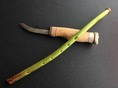 Fløyte av tromsøpalme laget av Øistein Hansen.