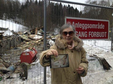 TAKKNEMLIG: Else Kristine Libekk, Ole-Bjørn Magnussens søster, vil takke personen som leverte tilbake maleriet som broren malte. Foto: Nina Schyberg Olsen