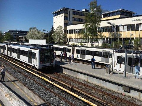 BRYN: Skal bli knutepunkt for både T-bane her ved Brynseng, buss, tog og fremtidig trikk og S-bane.