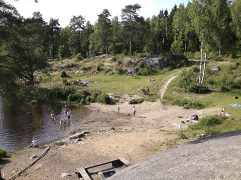 ULSRUDVANN: Knivepisoden skal ha skjedd nordøst for Ulsrudvann. Arkivfoto: Nina Schyberg Olsen