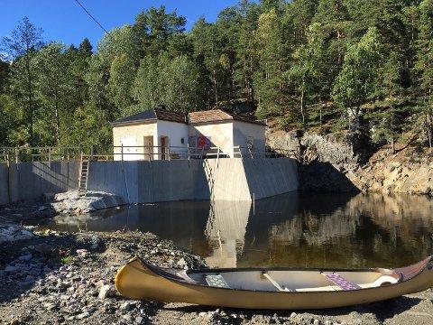 SNART FERDIG: Damanlegget ved Rustadsaga er snart ferdig og overlevering av anlegget skjer trolig neste uke. Bildet er tatt 11. september i år. Alle foto: Kristin Trosvik og Nina Schyberg Olsen