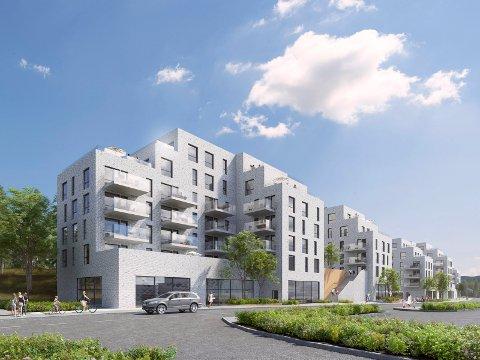 NORDENDEN: Det var leilighetene lengst mot nord, mot Karlsrud, som ble solgt først.