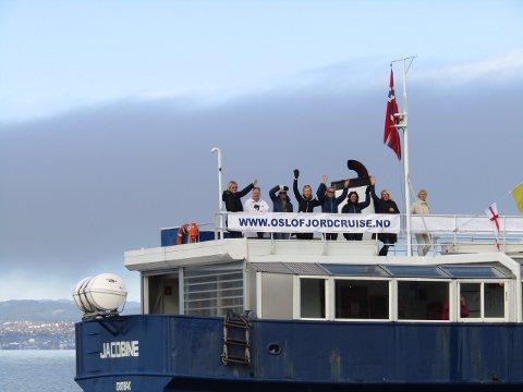 Ro-entusiaster om bord på Jacobine