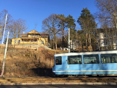 EKEBERGBANEN: Hvis forslaget får flertall blir deler av trikketraseen i Kongsveien lagt i tunnel. Foto: Nina S. Olsen