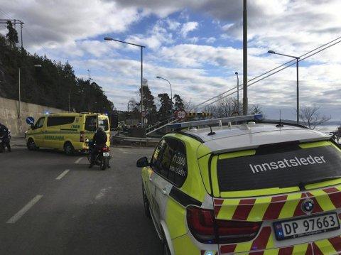 DØDSULYKKE: En syklist ble påkjørt og drept her på Mosseveien ved Ulvøya. Foto: Svend Ole Kvilesjø