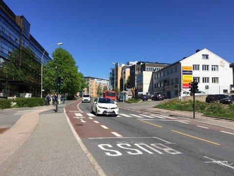 ØSTENSJØVEIEN: Som et ledd i videreutviklingen av Bryn som kollektivknutepunkt foreslås blant annet ny bussterminal og kollektivfelt i Østensjøveien.