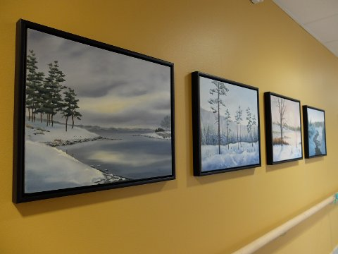 Noen av bildene som er utstilt på Midtåsenhjemmet.