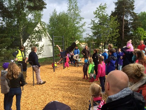 LAMBERTSETER: Inkluderingsmarkeringen finner sted i aktivitetsparken på Lambertseter, her fra åpningen i fjor. Foto: Ivar Nyhus