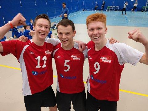 TOPP TURNERING: Daniel Maciag, Stuart Ottersen og Christian Hellum Bye hadde all grunn til å juble under NM i Stavanger.