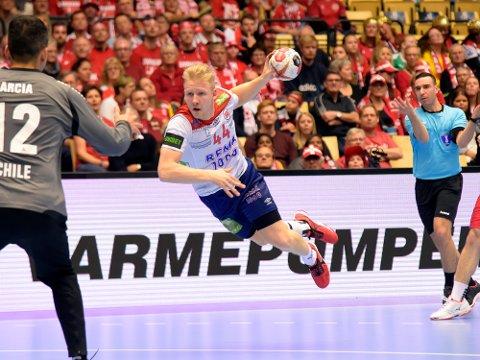 GREP SJANSEN: Kevin Maagerø Gulliksen puttet tre mål på tre mulige da han fikk sjansen mot Chile tirsdag.