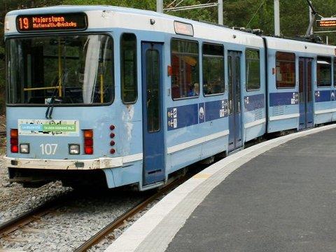 NY ENDEHOLDEPLASS:  Trikken forlenges fra Ljabru til Hauketo stasjon om sistnevnte blir nytt kollektivknutepunkt. ARKIVFOTO