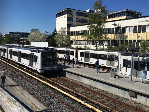 ARBEID: Det skal gjøres arbeid på t-banen mellom Tøyen og Brynseng i august.